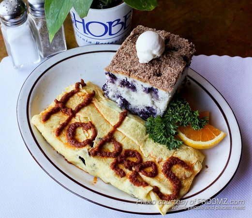 Omelets at Hobee's are legendary!