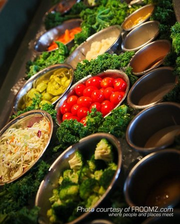 The all you can eat soup and salad bar is a Hobee's mainstay.