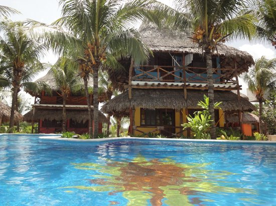Hotel Casa Palapas del Sol : Swimming pool and the rooms