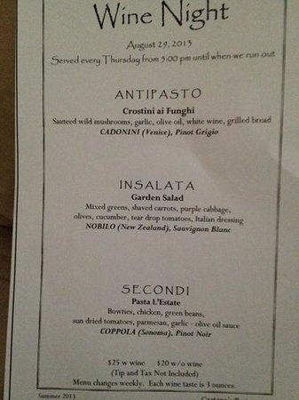 Gaetano's Restaurant: wine night