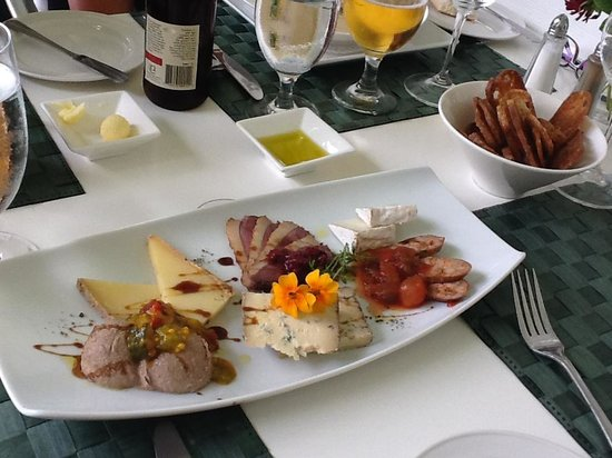 Les Fougeres : Starter to share - the Charcuterie Plate with Cheese