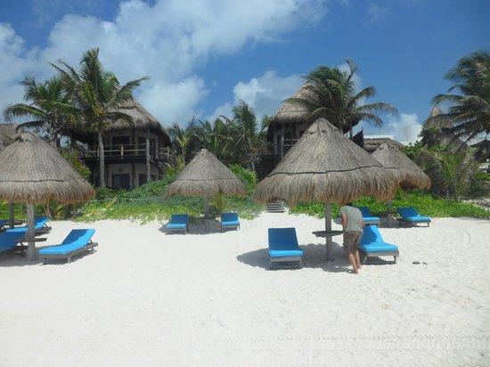 Encantada Tulum: zona de playa