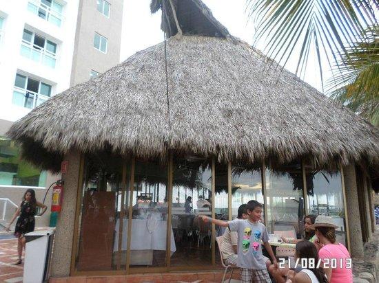 Hotel Villa Varadero : Zona de snaks junto a la playa