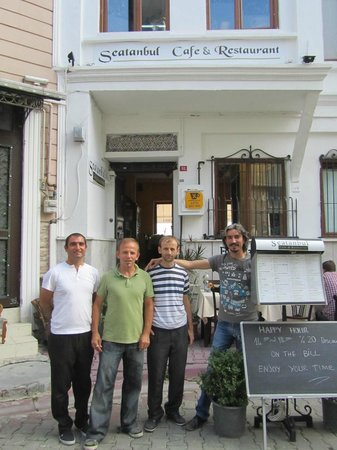 Seatanbul Apart: The wonderful trio (right to left) who manage the hotel and associated restaurant.
