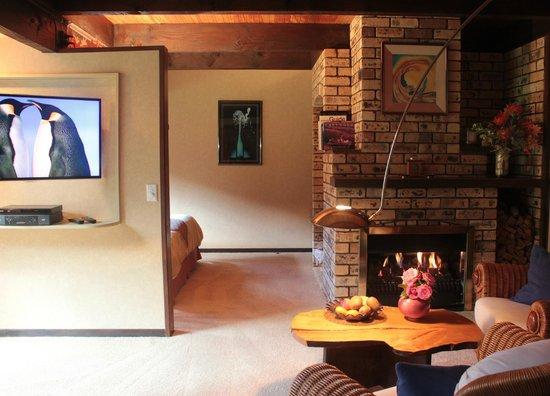 Bushland Park Lodge & Retreat: Kauri Suite with open fire place