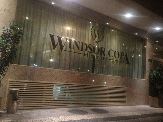 Windsor Copa Hotel: Fachada do Hotel