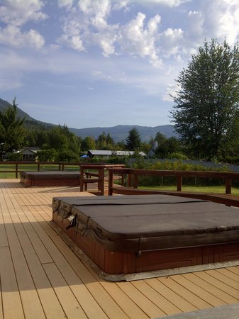 Sundog Bed & Breakfast : Backyard View with Hot Tubs