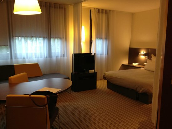 Novotel Suites Paris Velizy : view of the room from the entrance