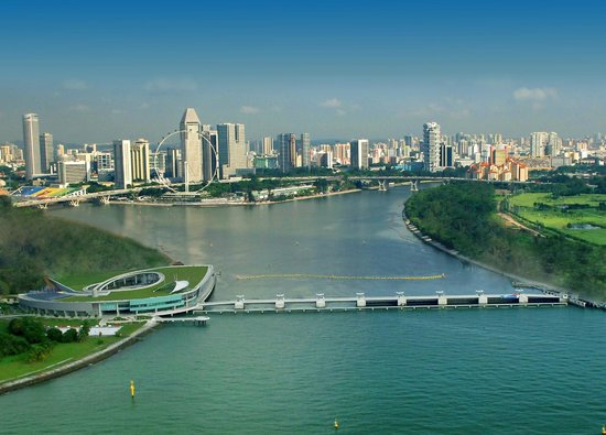 Marina Barrage: Photo provided by Public Utilities Board, Singapore
