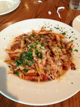 "Bambino's Italian Cafe: I think this was called ""Mama's pasta"" $11(?)"