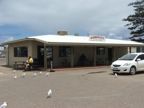 Barnacles Food Bar: Barnacles on the wharf