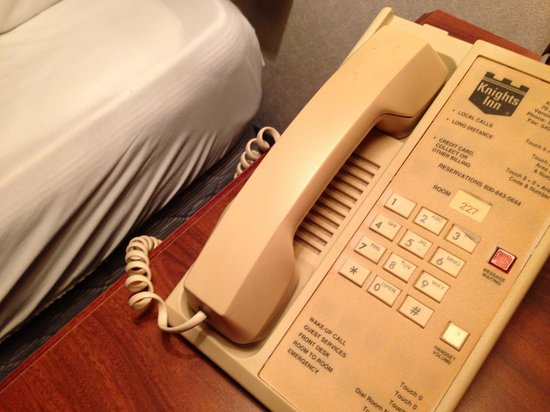 Knights Inn Staunton/Verona: As you can see by the white sheet in the background, this phone is a victim of smoking