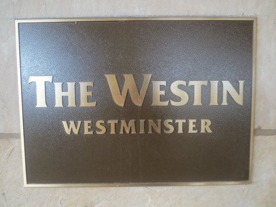 The Westin Westminster: Front Entrance