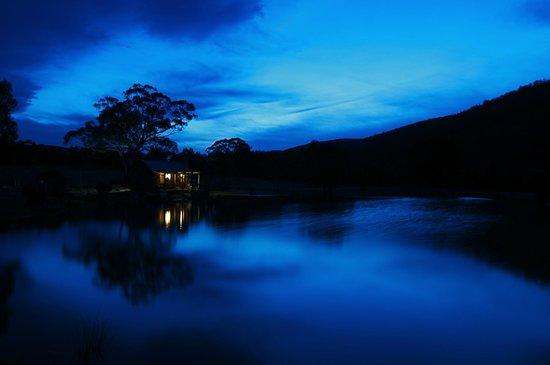 Moonbah Hut: Moonbah Lake in stunning early evening light.