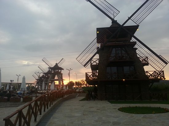 Sofia, Bulgaria: Sunset on wind mills