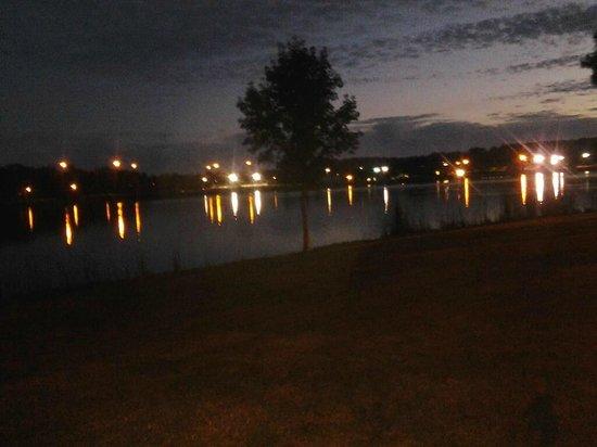 Lake Mayer Community Parks: Lake Mayer at night