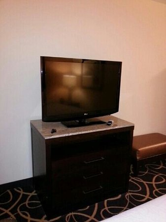 Hilton Garden Inn Shreveport Bossier City: large flat screen tv