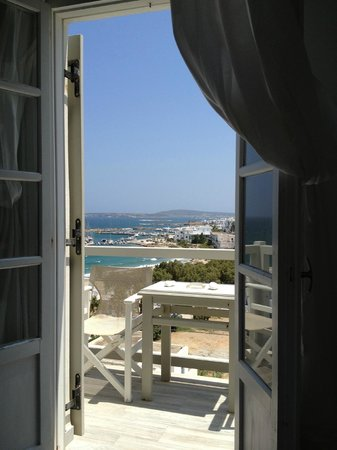 Paliomylos Spa Hotel: View from the bed, could lay here for weeks.