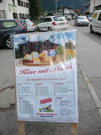 """ErlebnisSennerei Zillertal: L'evento """"Kase mit Musik"""""""
