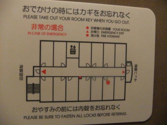 Omura Central Hotel: フロアの見取り図