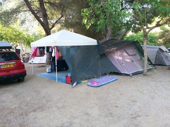 Las Palmeras Camping: our pitch