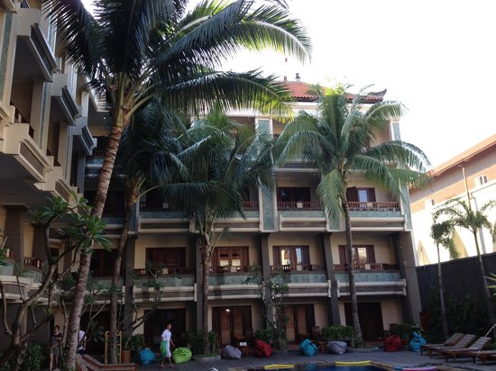 The Vira Bali Hotel: View from the pool