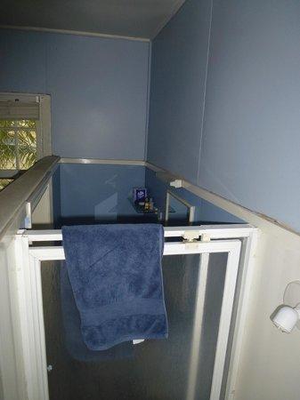Villa Apartments & Lodge : Bathroom built into corner of room