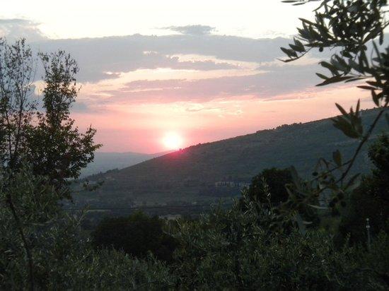 Azienda Agrituristica Il Moraiolo: tramonto