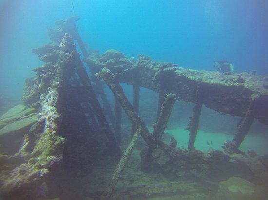 Dive Savaii: The wreck in Avao Bay