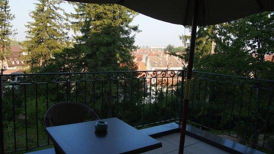 Hôtel Le Sauvage : La terrasse
