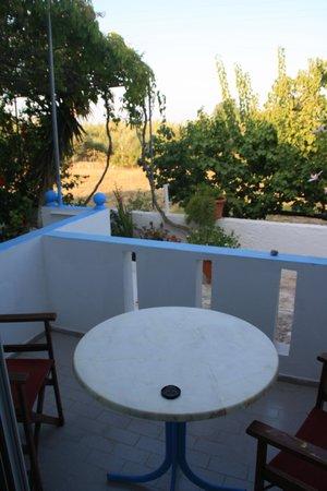 Dionysia Studios: la terrazzina privata sul retro