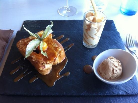 L'Aile de Ré : brioche pain perdu, caramel salé