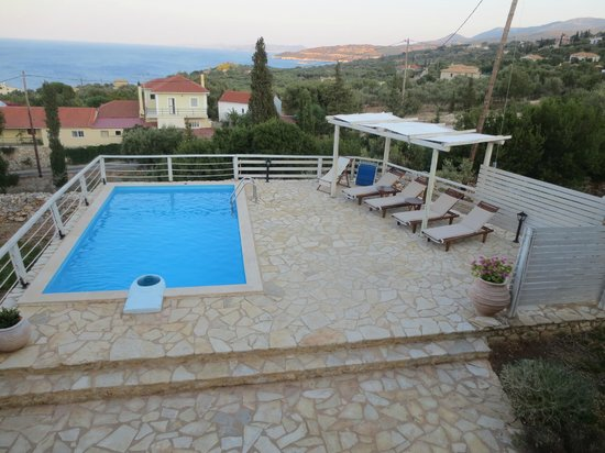 Orfos Villas : Private pool and sea view