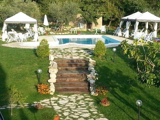 Giardino verso l 39 area piscina foto di giardini di eidos for Immagini di piccoli giardini privati