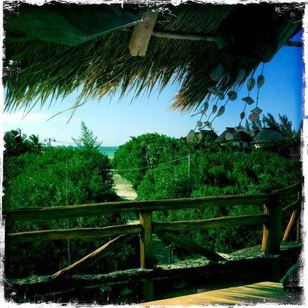 Villa los Mangles : vue de la chambre, la mer à 100m