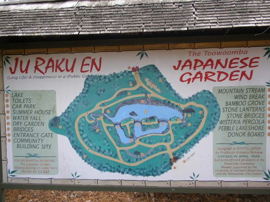 Japanese Garden: The Garden's Layout sign
