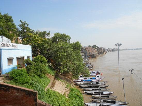 Eden Halt: flood scene from terrace