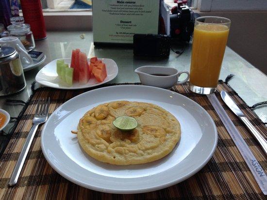 Kamuela Villas Seminyak: Banana pancake(^O^)/