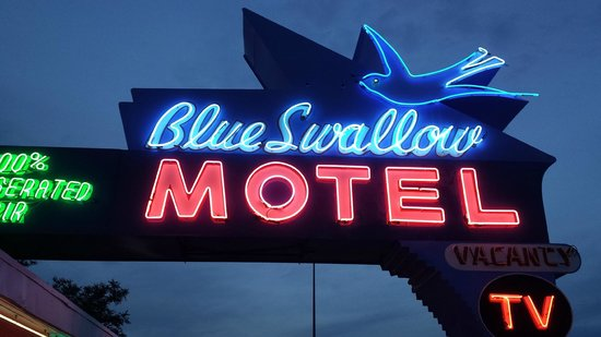 Blue Swallow Motel: Route 66 signage at its best.