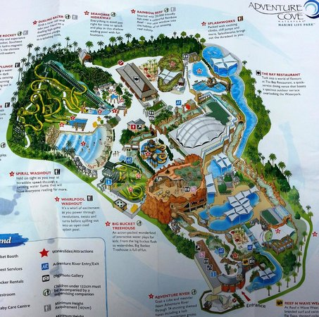 Adventure Cove Water Park Map  Picture of Adventure Cove