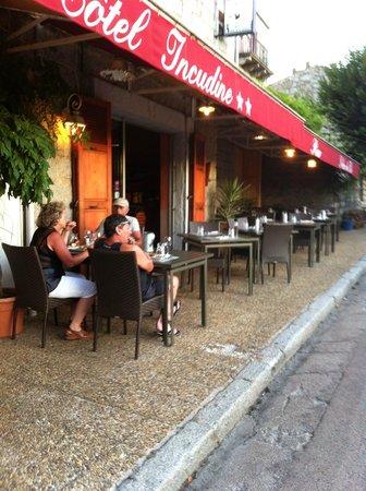 Hotel Restaurant de l'Incudine : terrasse restau