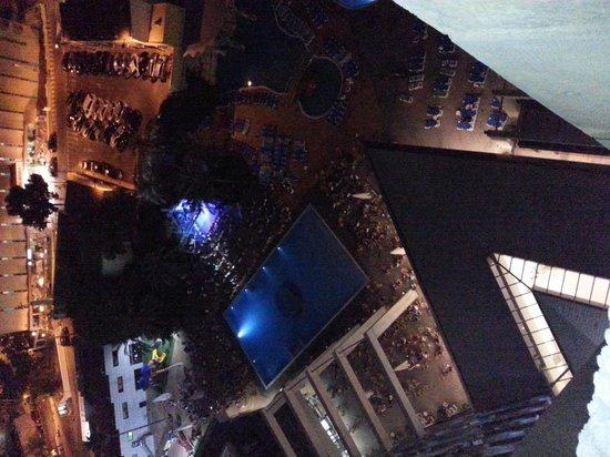 Vista de noche desde terraza