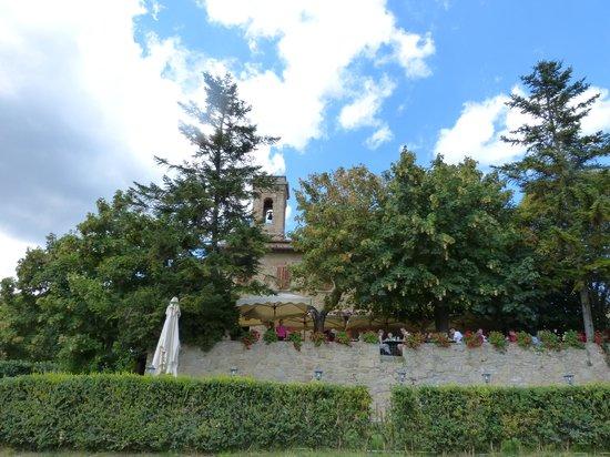La Bottega di Volpaia: view from the parking lot