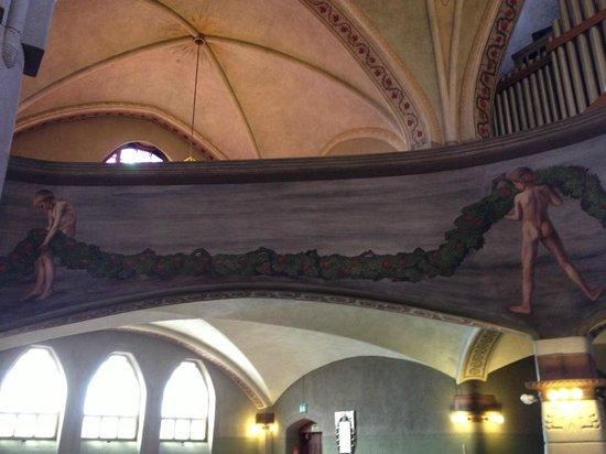 Tampereen Tuomiokirkko: タンペレ大聖堂内部のヒューゴ・シンベリによる壁画 Hugo Simberg, Cathedral in Tampere