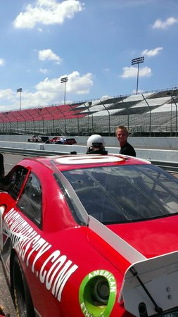 Rusty Wallace Racing Experience: Ready to climb in.