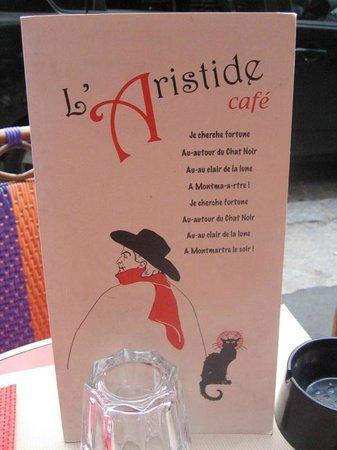L'Aristide Café: L'Aristide Cafe's Menu