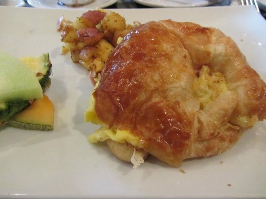 Amical: Ham, egg & cheese croissant for brunch. A+!