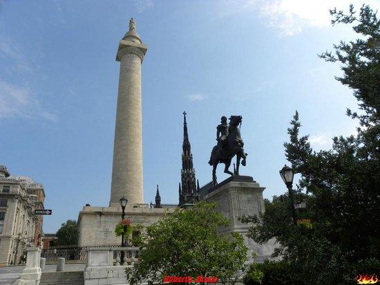 Washington Monument and Mount Vernon Place : Washington Monument, Baltimore, MD
