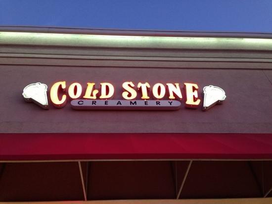 Cold Stone Creamery: sign