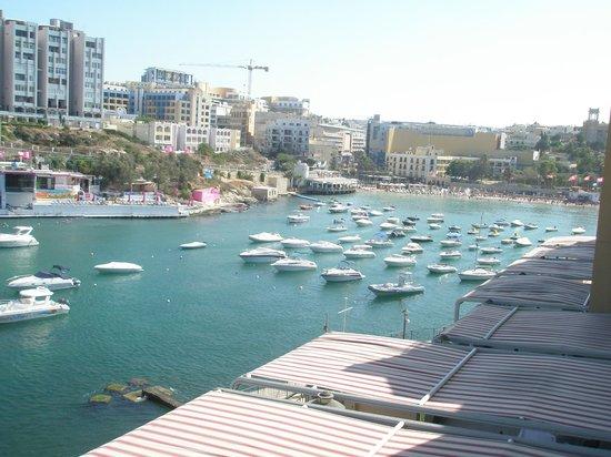 Marina Hotel Corinthia Beach Resort: vista dalla camera di paceville